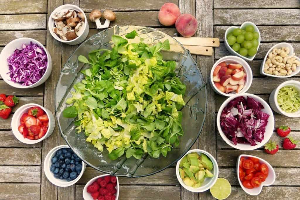 Natural beauty and balanced diet
